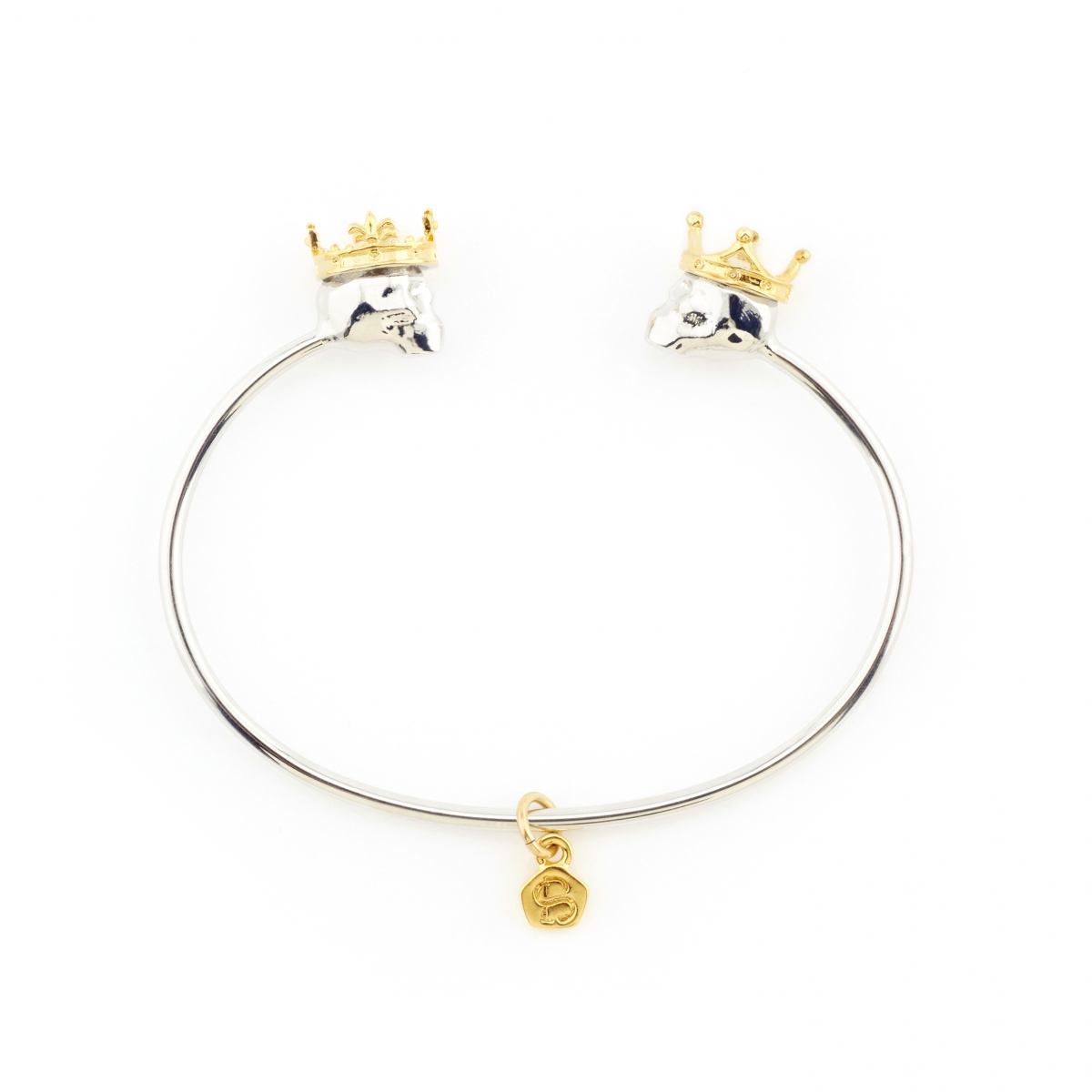 King and Queen Skull Bangle