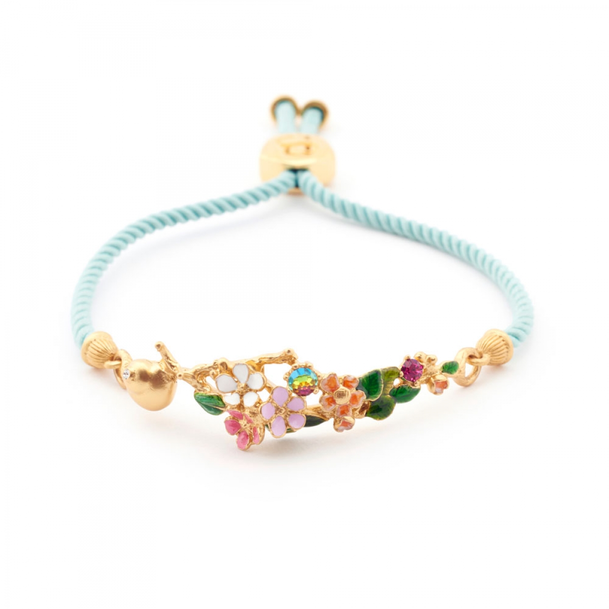 Snail Crystal Friendship Bracelet