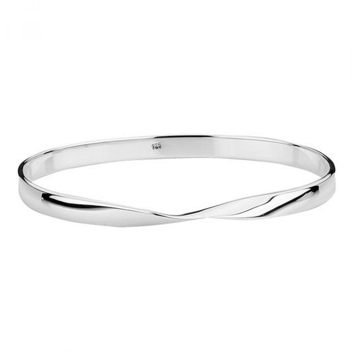 Silver Bangle with Twist