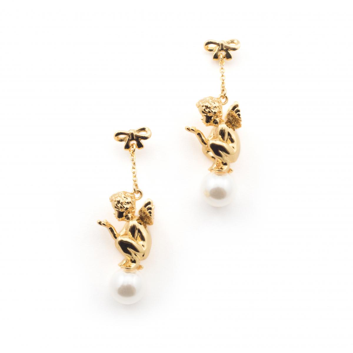 Cherub Pearl Drop Earring Fashion Jewellery