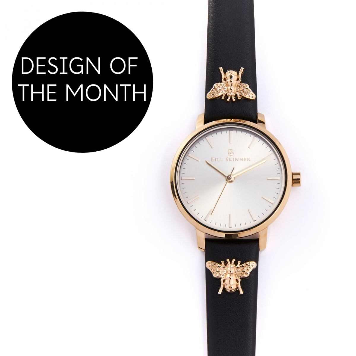 Queen Bee Leather Watch - Black