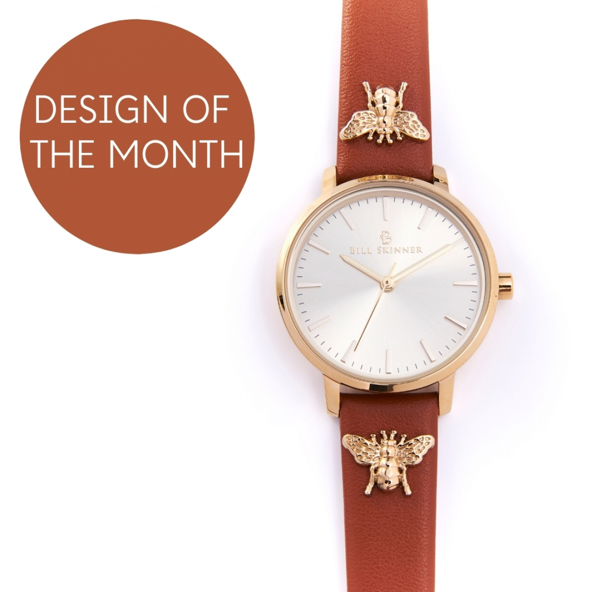 Queen Bee Leather Watch - Tan