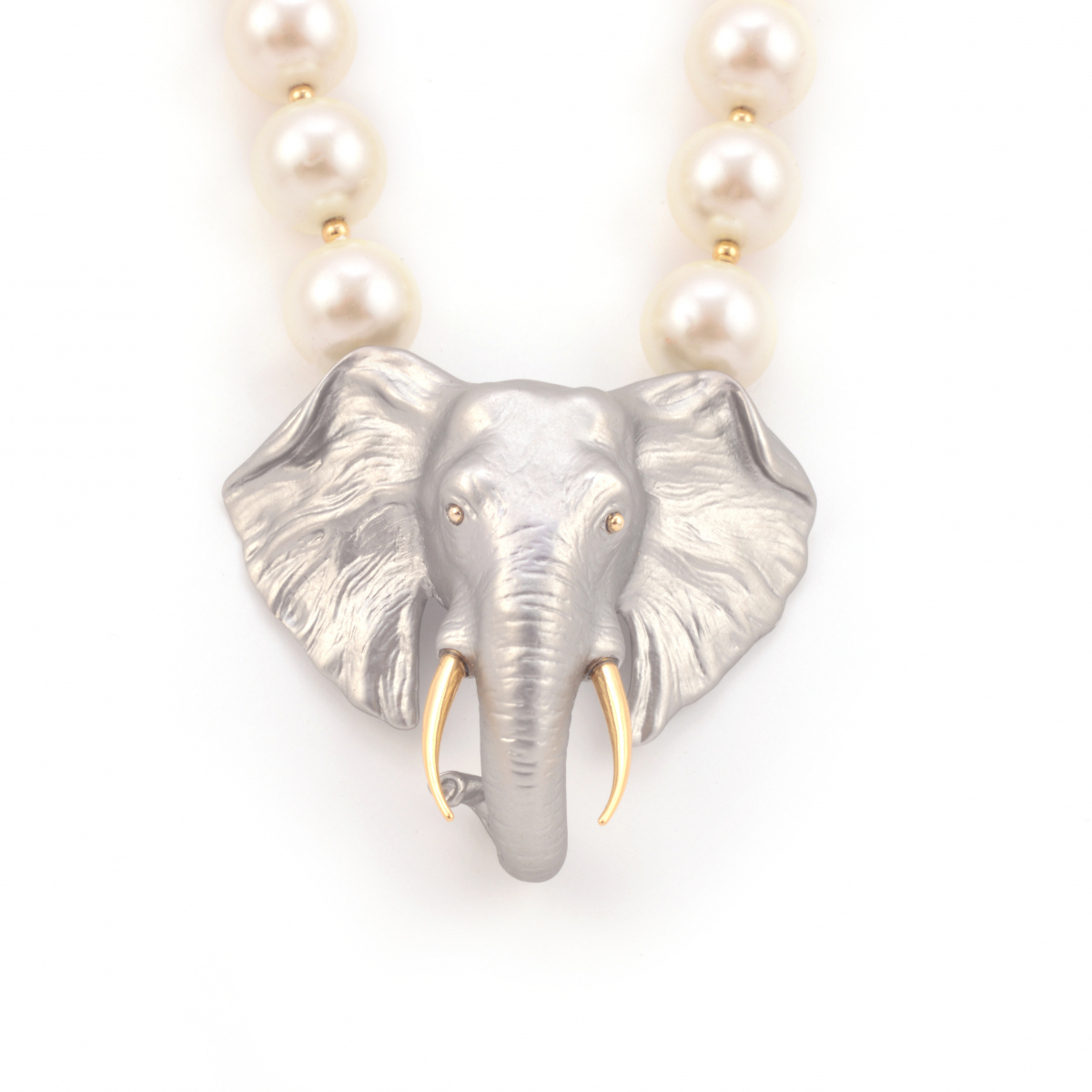 Elephant Pearl Statement Necklace