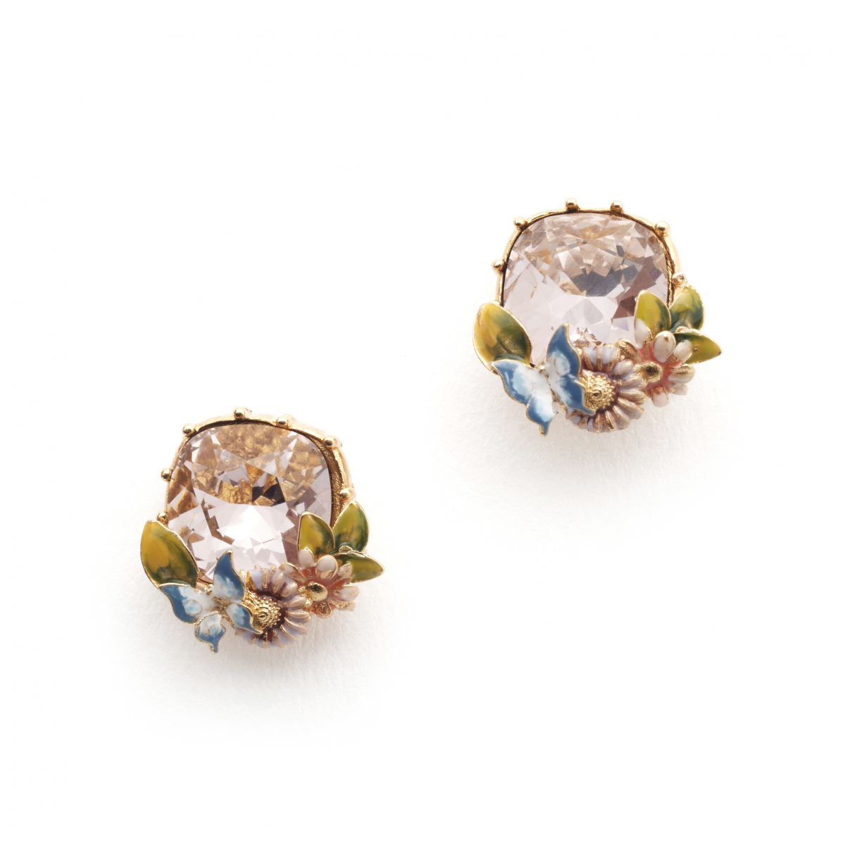 Scenes of Nature Earrings - Vintage Rose