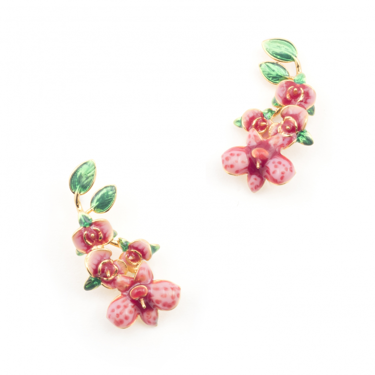 Orchid Cluster Drop Earring
