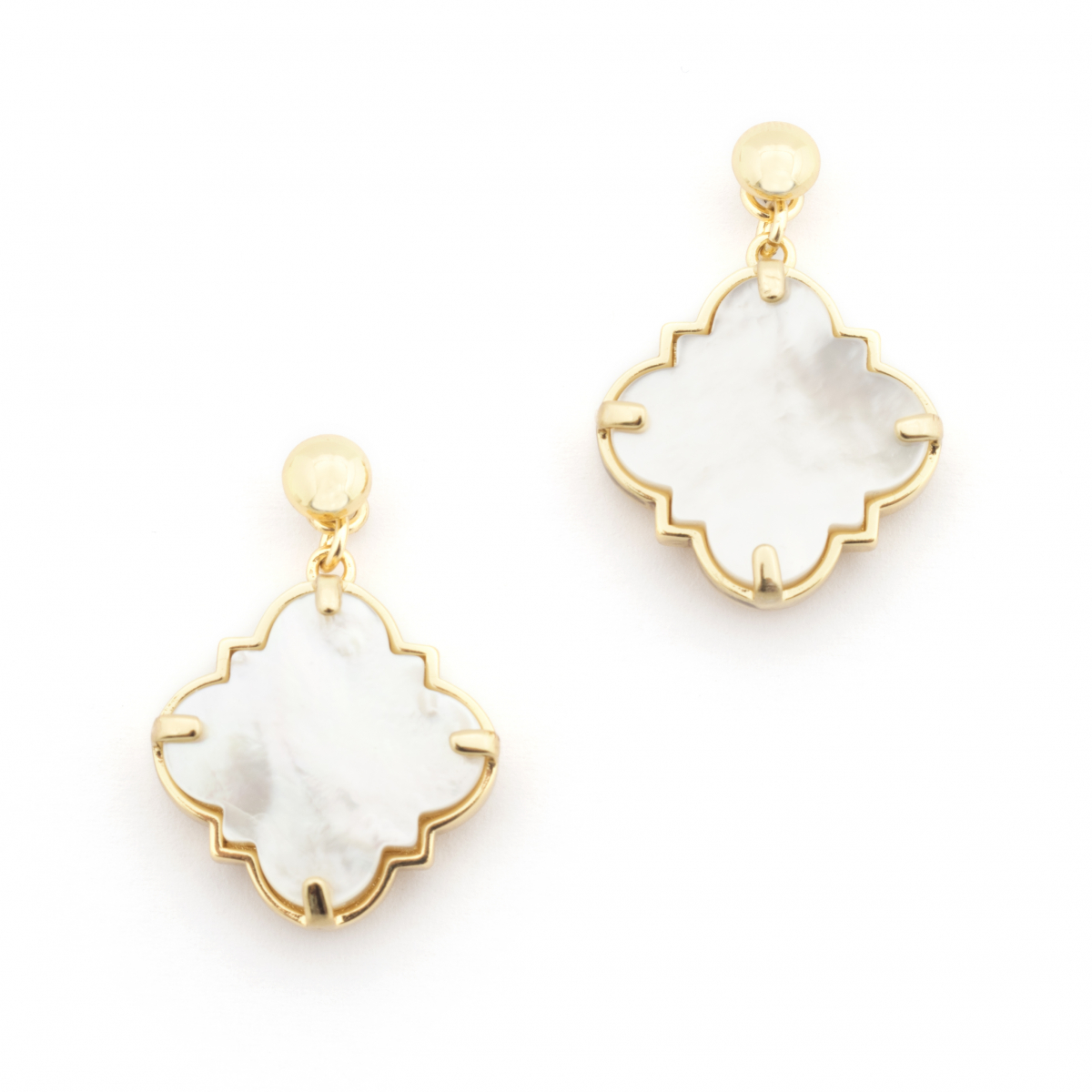 Filigree Morocco Earrings - Mother of Pearl