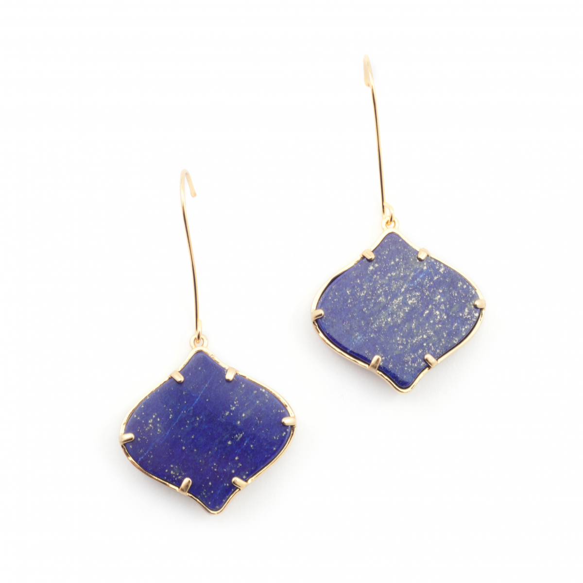 Arabesque Filigree Earrings - Lapis