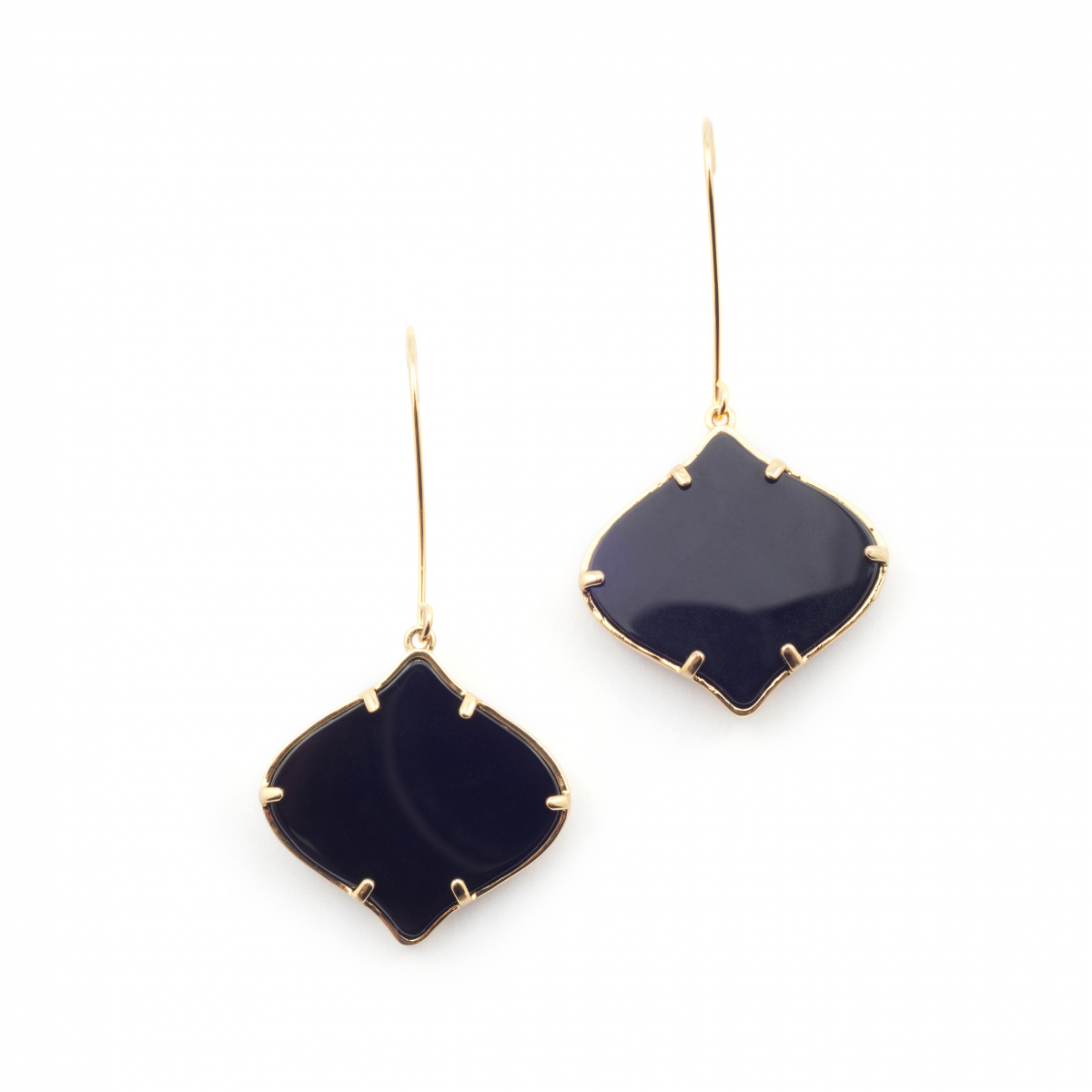 Arabesque Filigree Earrings - Onyx