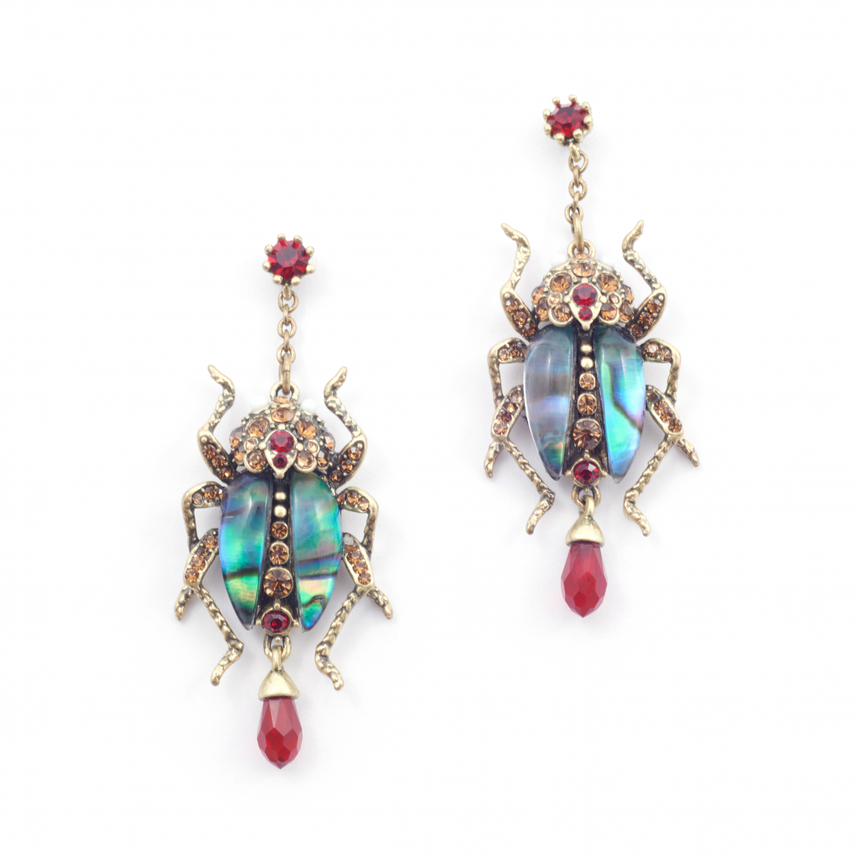 The Bejewelled Beetle Statement Earrings