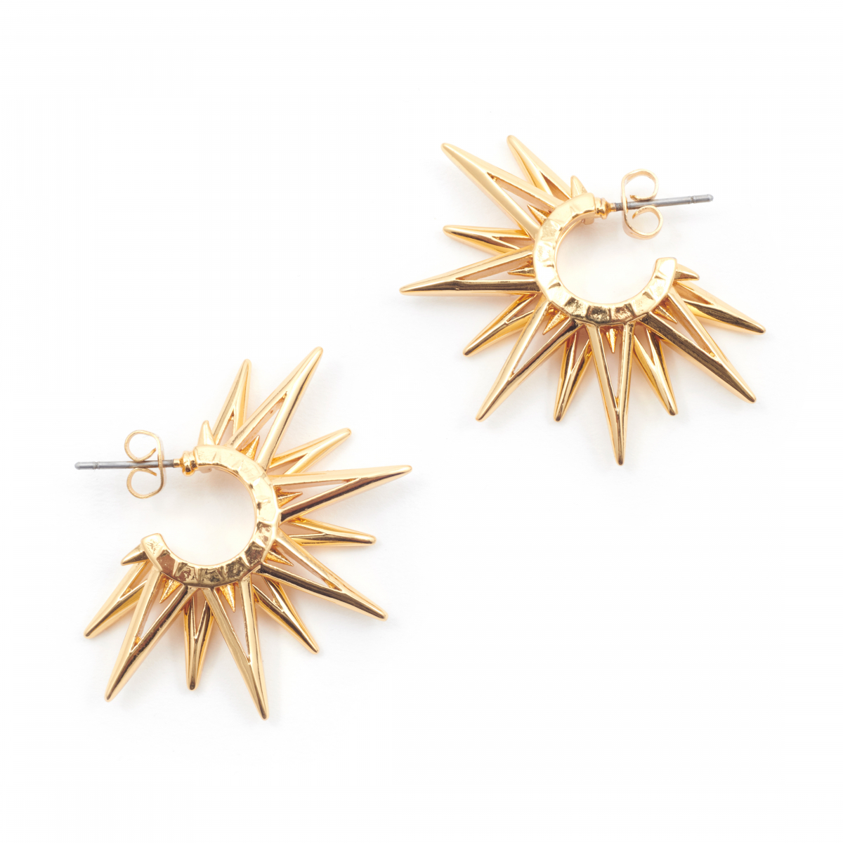 Starburst Through Earring - Gold
