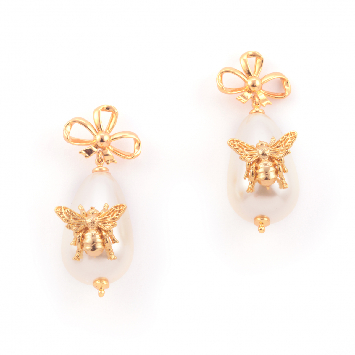 Bee Pearl Statement Earrings