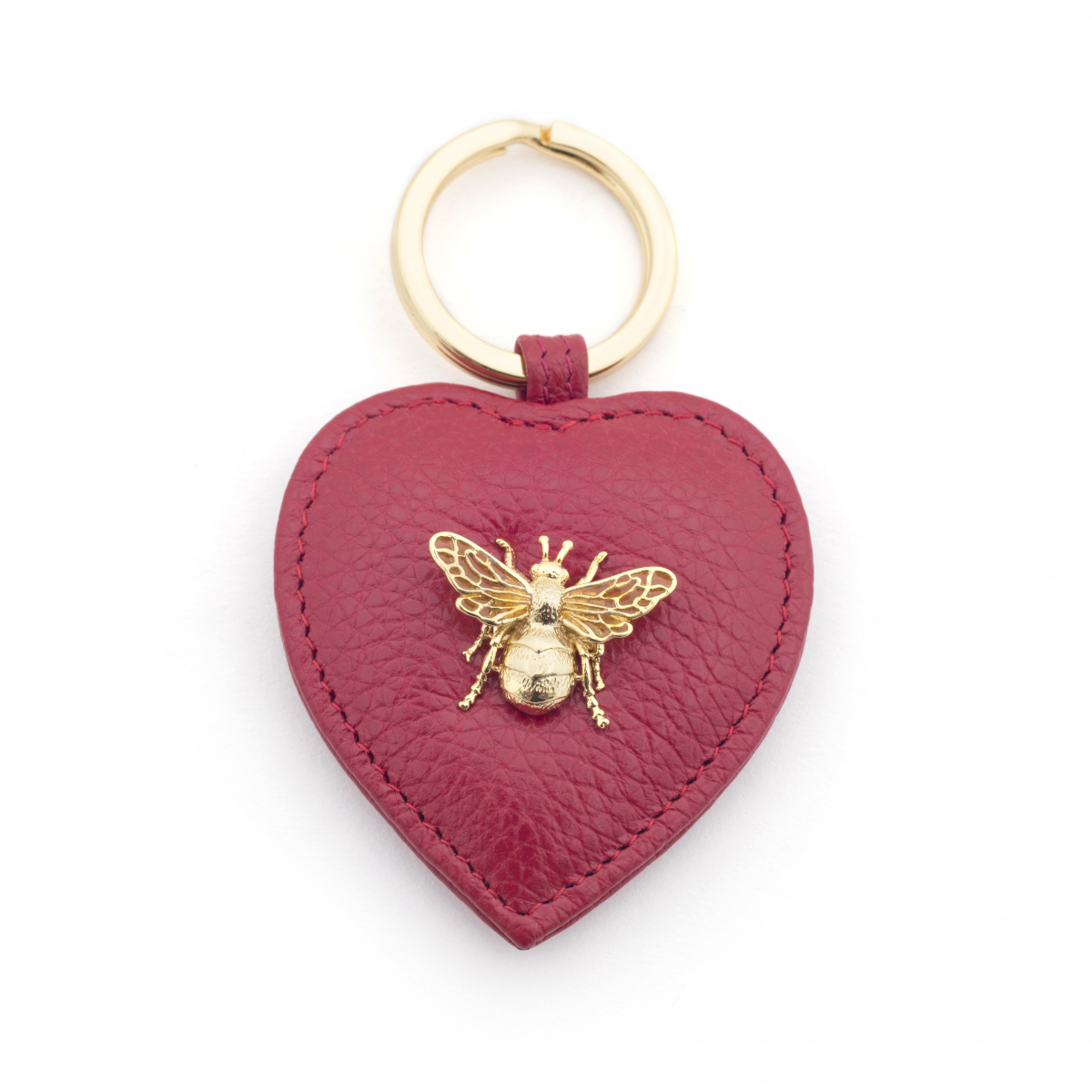 Queen Bee Leather Keyring - Red