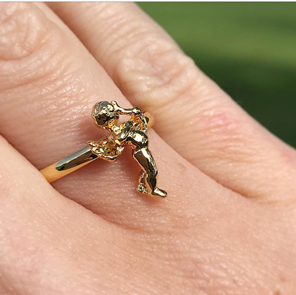 Archive Mini Cherub Ring - Gold - Small Size Only