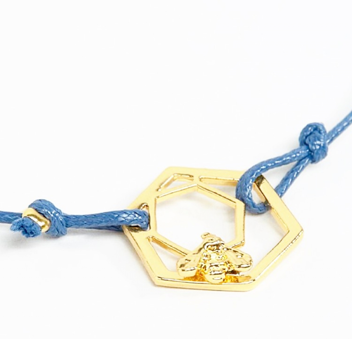 Bee & Hexagon Friendship Bracelet