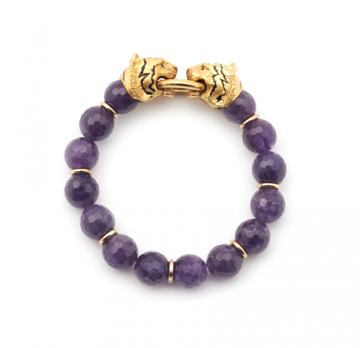 Tiger Stretch Bracelet (amethyst)