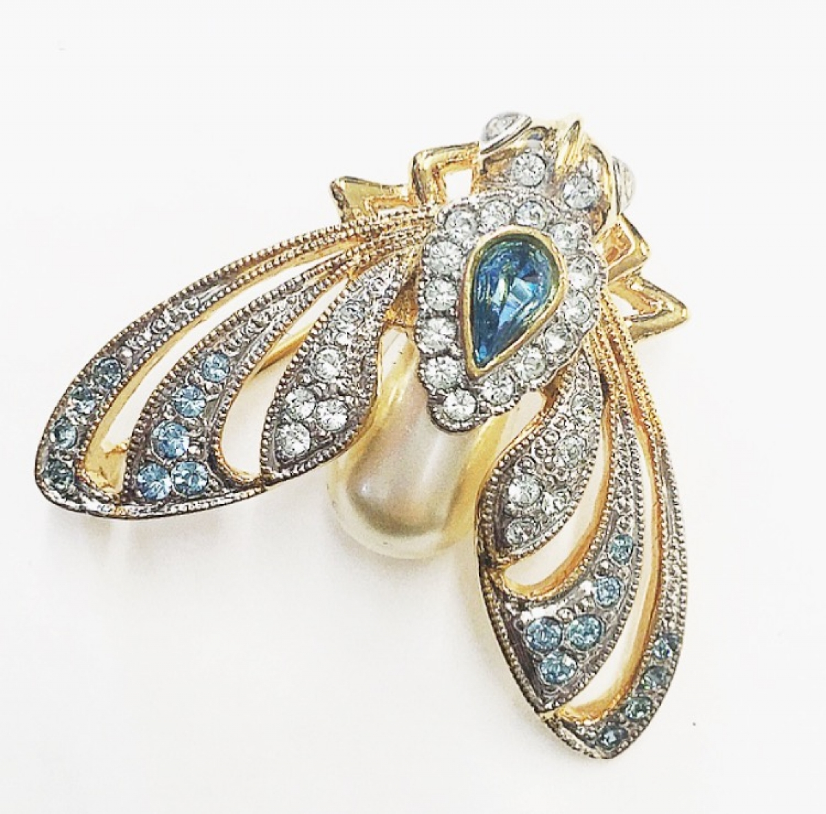 JEWELLED MOTH STATEMENT BROOCH