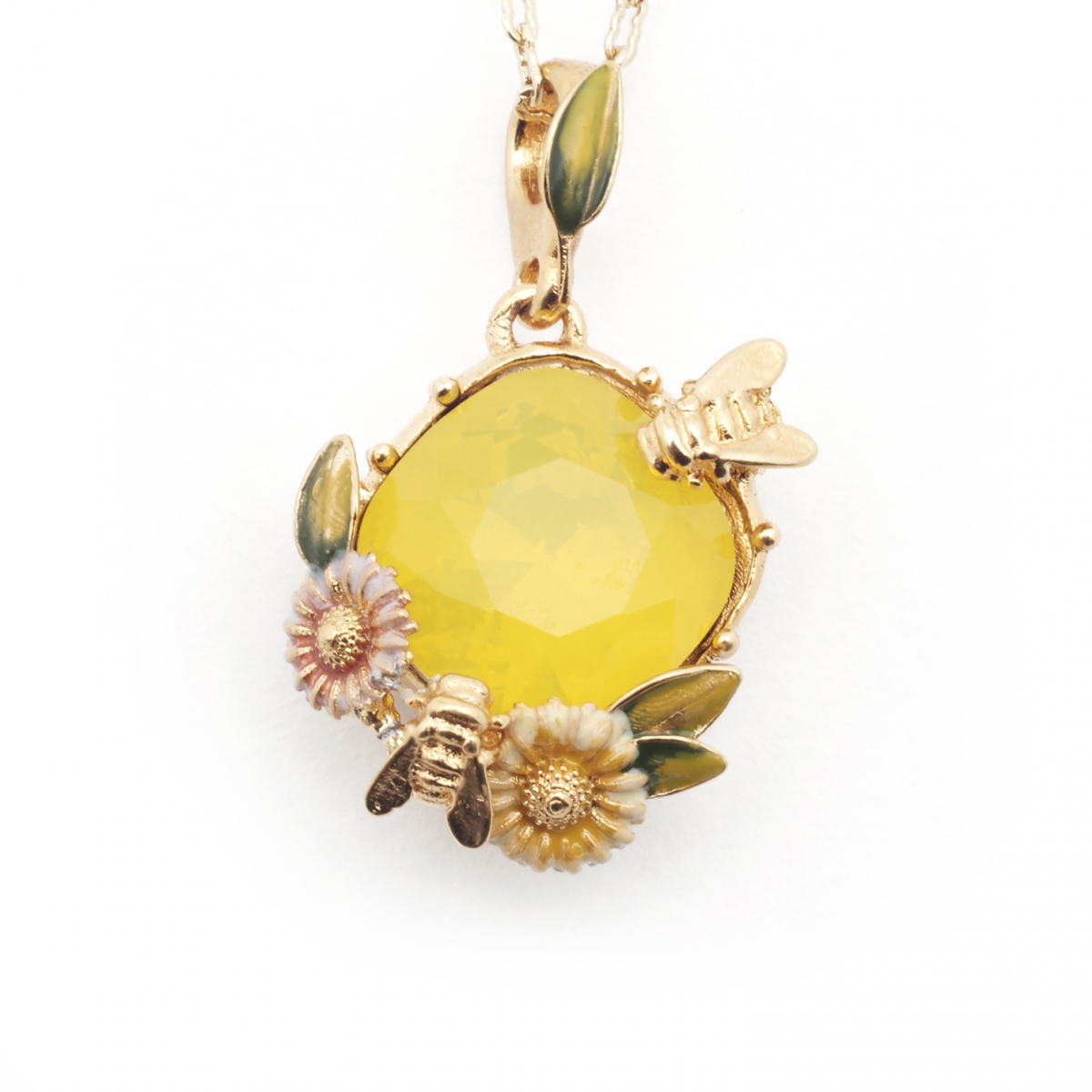 Scenes of Nature Pendant - Yellow Opal