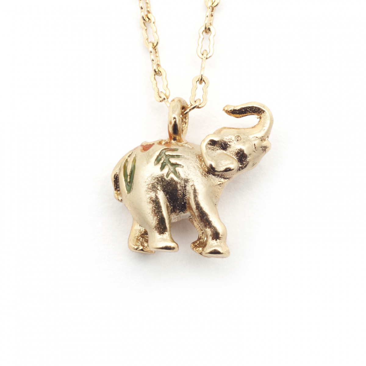 Elephant Tiny Pendant - Gold