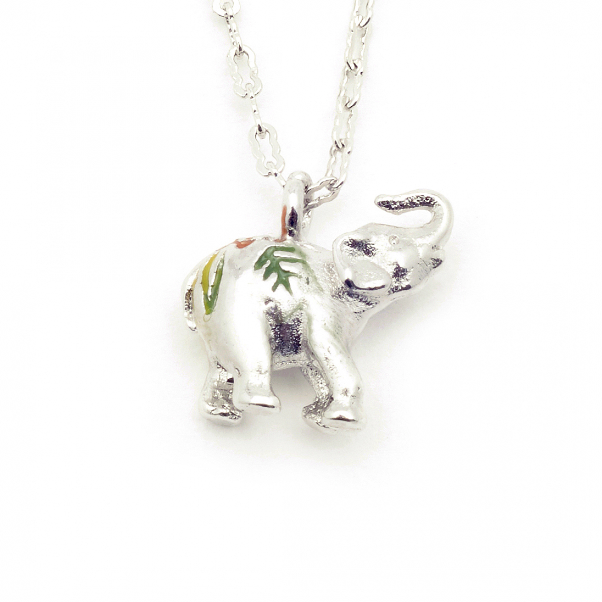 Elephant Tiny Pendant - Rhodium