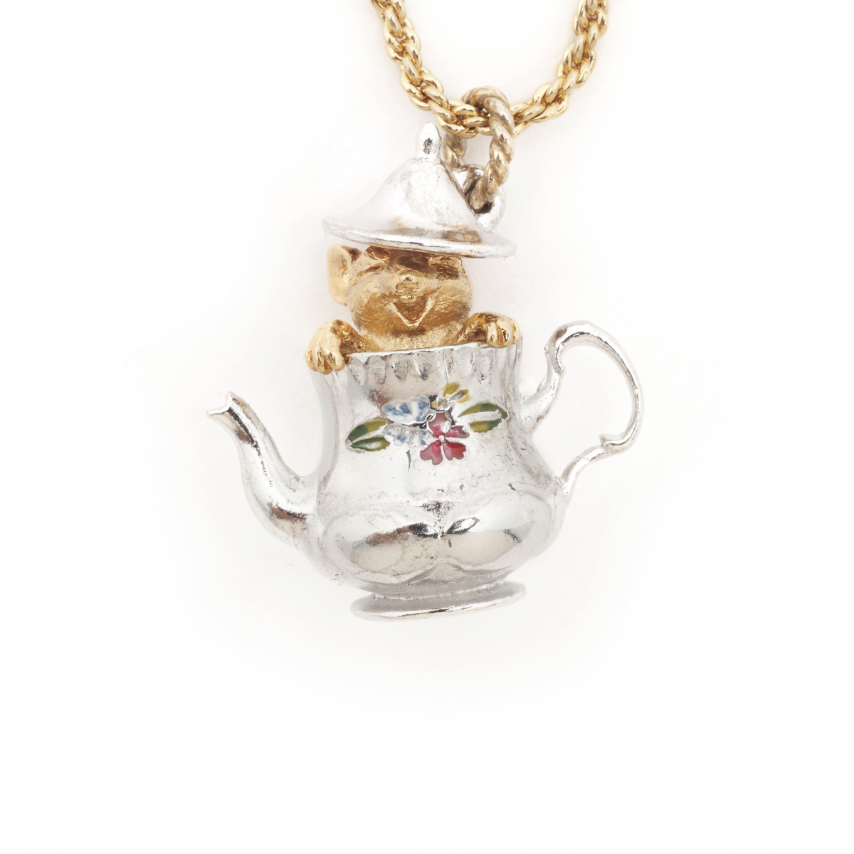 Tea Party Mouse Pendant - Large