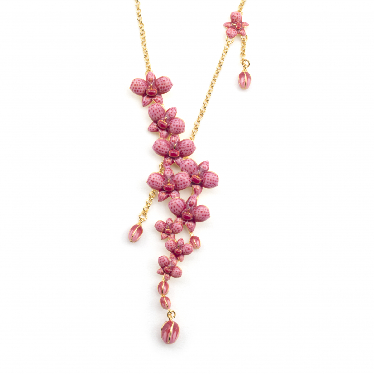 Orchid Statement Torque Necklace