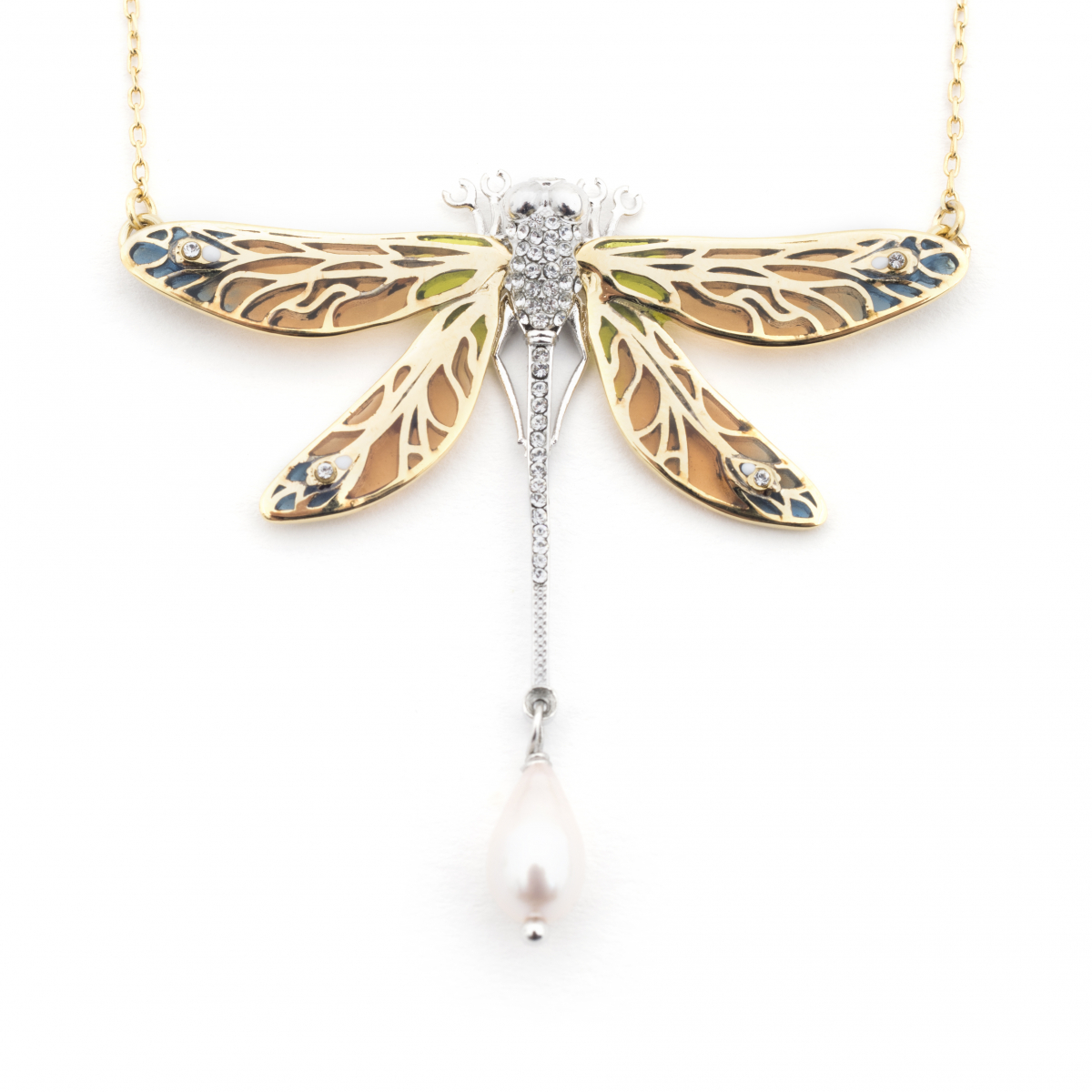 Dragonfly  Statement Pendant