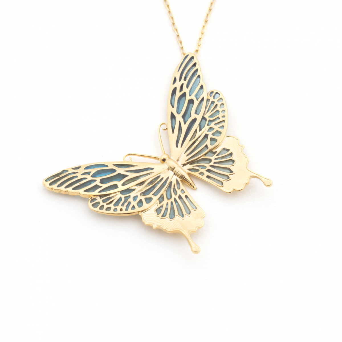 Butterfly Statement Pendant - Mint