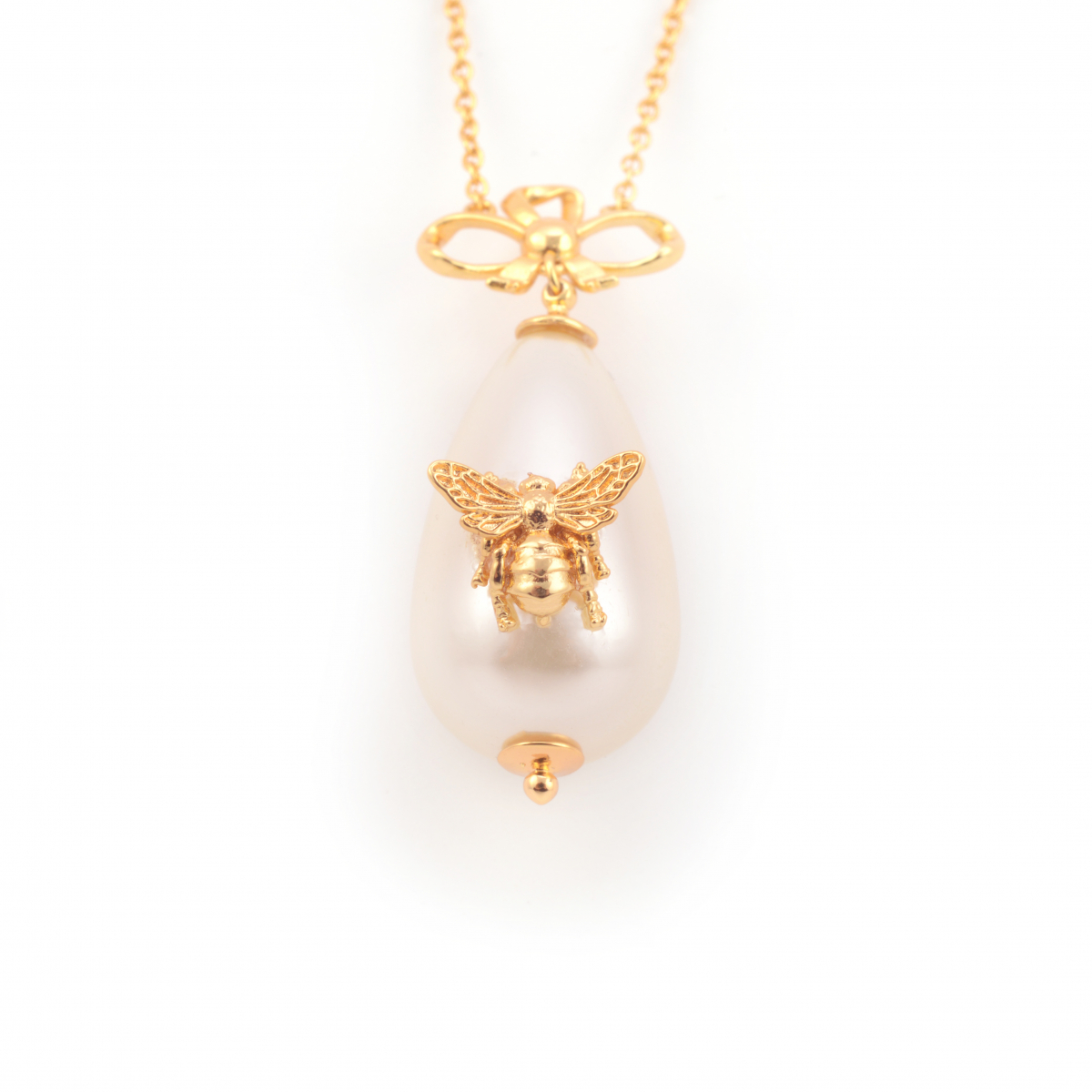 Bee Pearl Statement Pendant