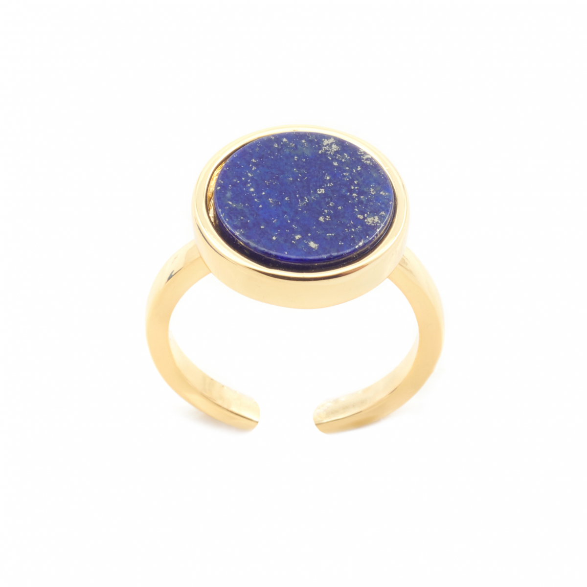 Mini Filigree Disc Open Ring - Lapis