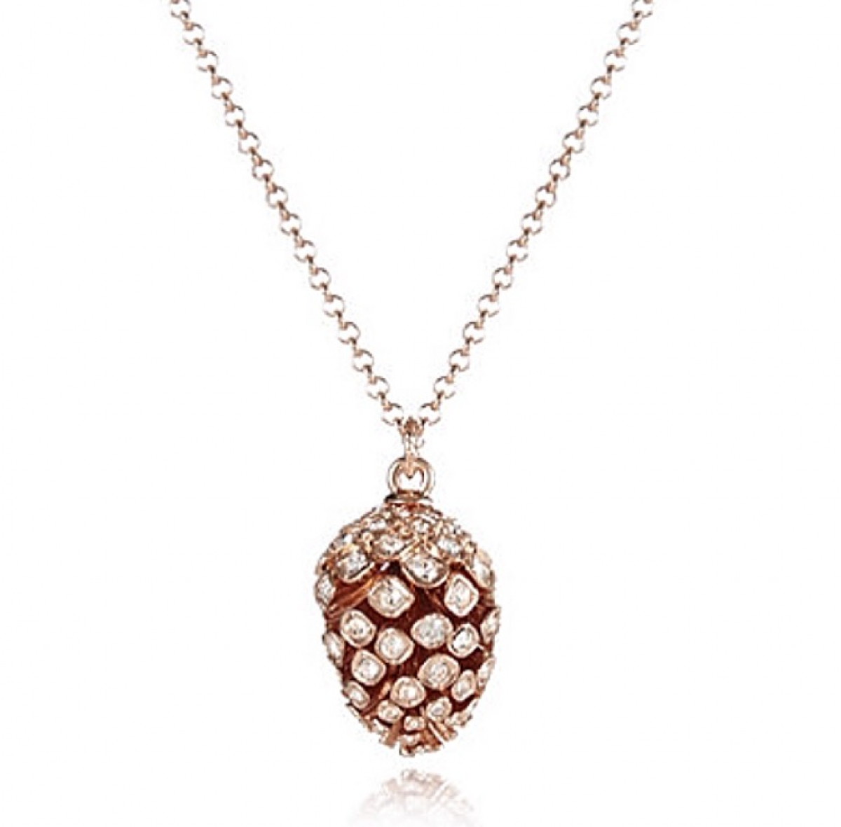 Statement Pinecone Pendant Rose Gold