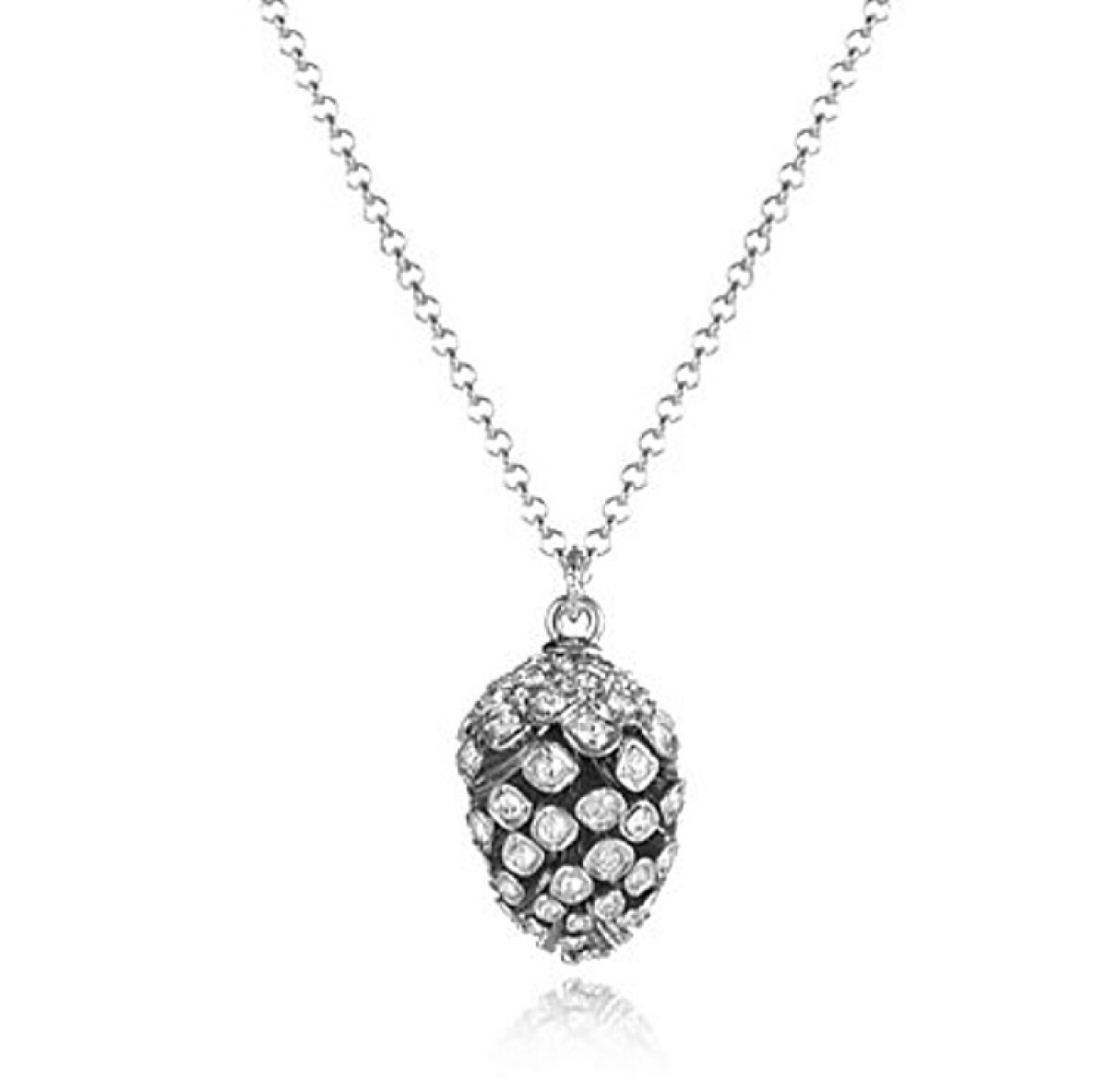 Statement Pinecone Pendant Rhodium