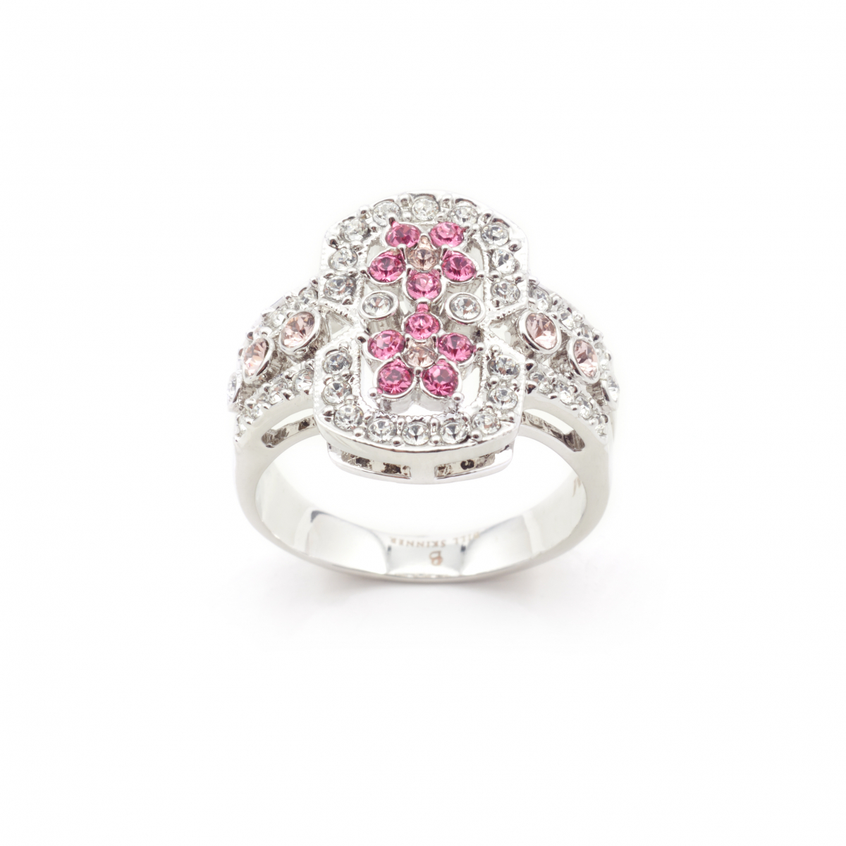 Archive Pink Crystal Ring - Size Large