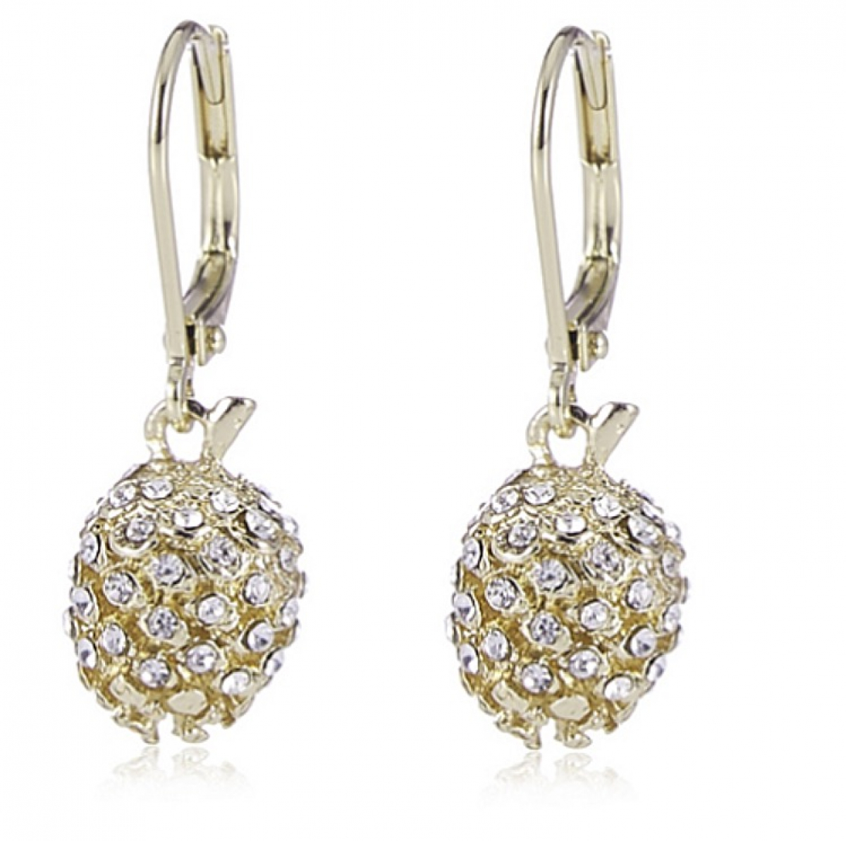 Pinecone Swing Earring Pave & Gold