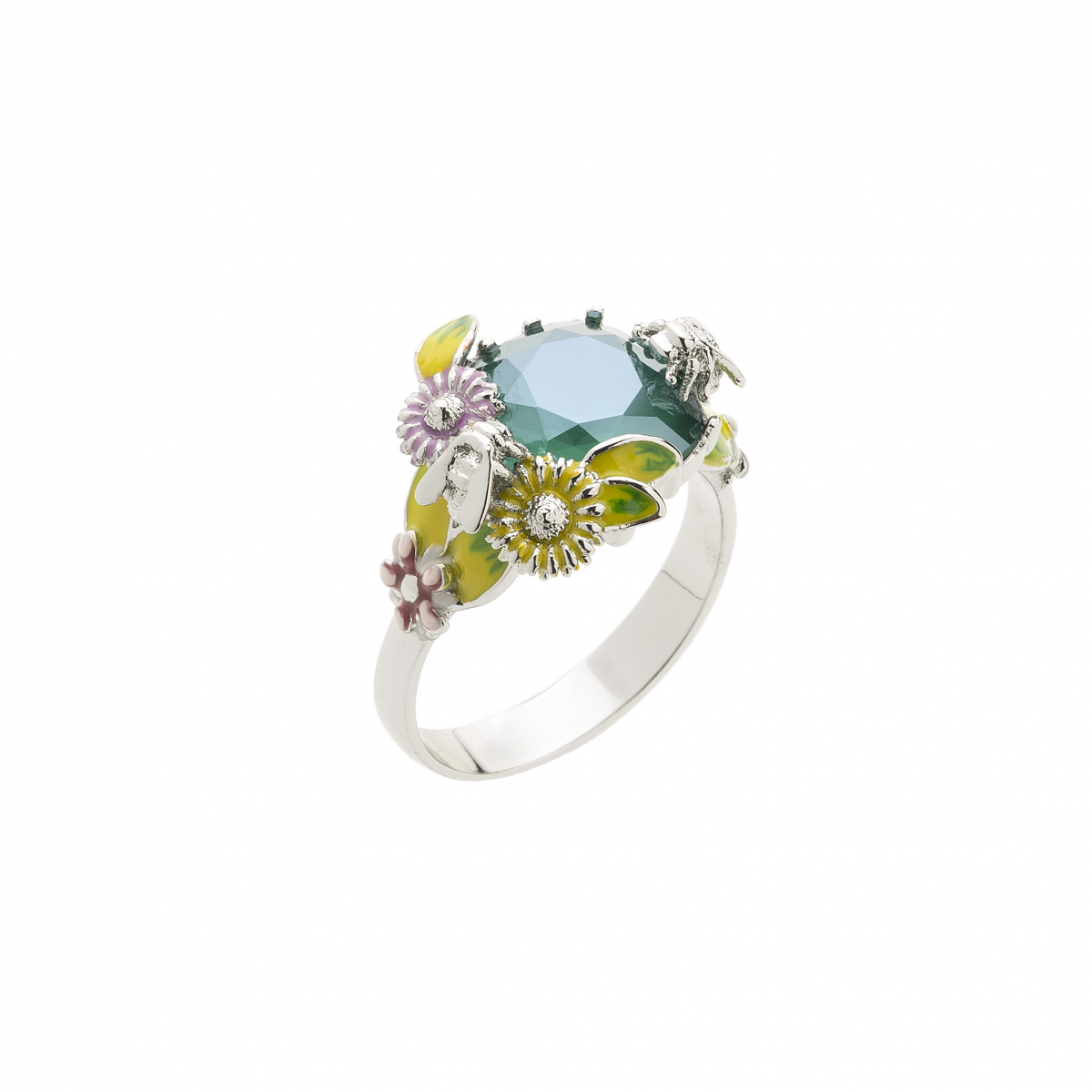 Scenes of Nature Ring - Teal - Medium Only
