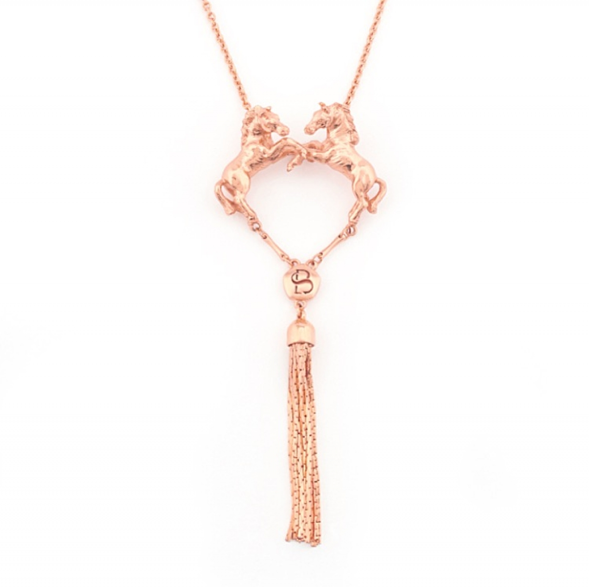 Wild Horse Pendant (double) Rose Gold
