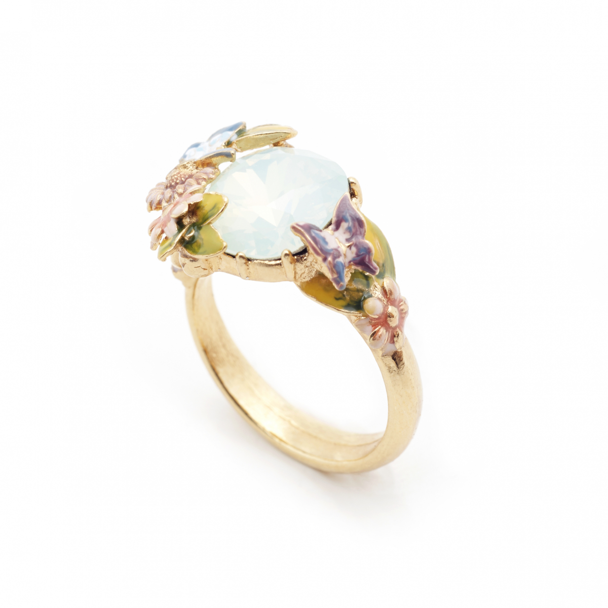 Scenes of Nature Ring - Chrysolite Opal