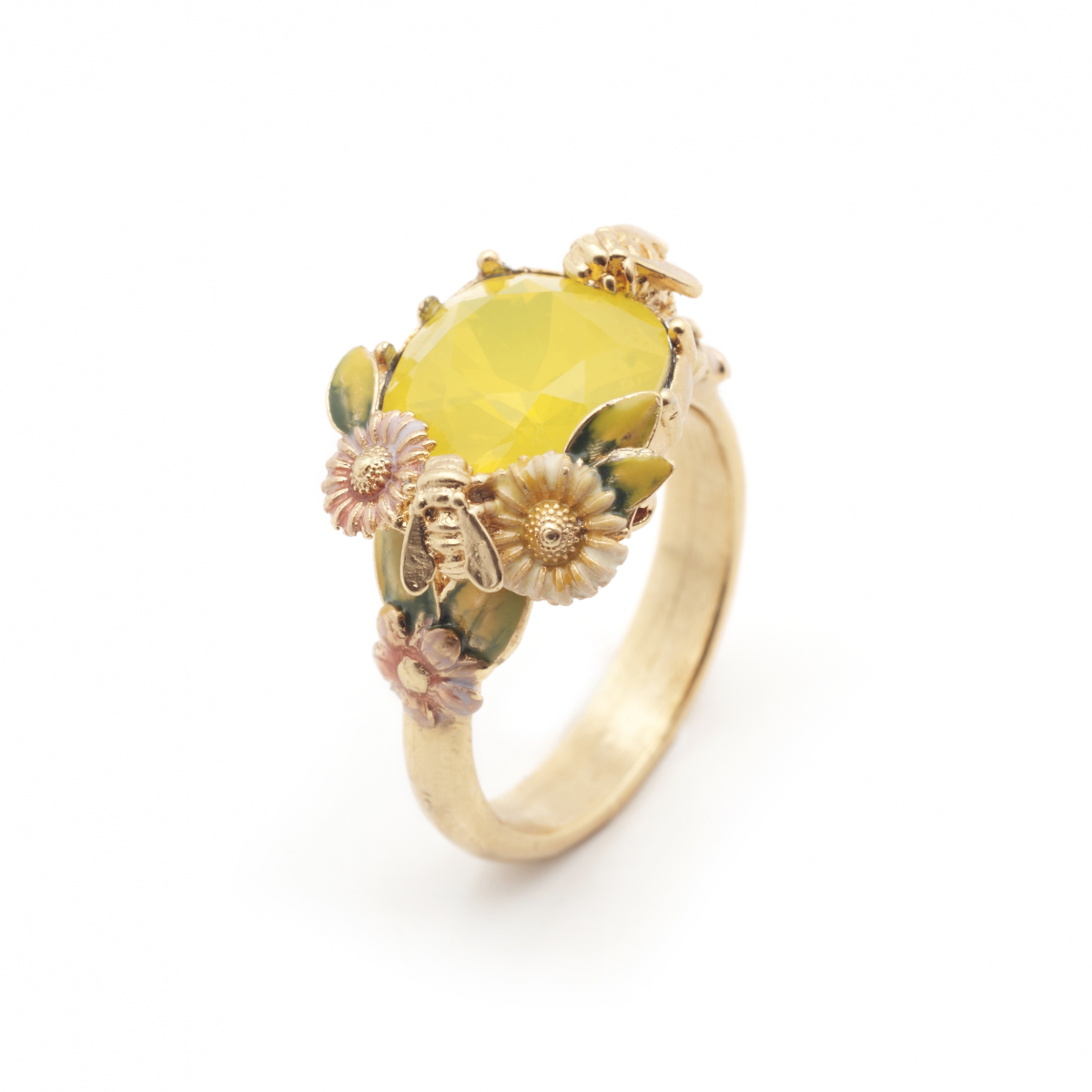 Scenes of Nature Ring - Yellow Opal