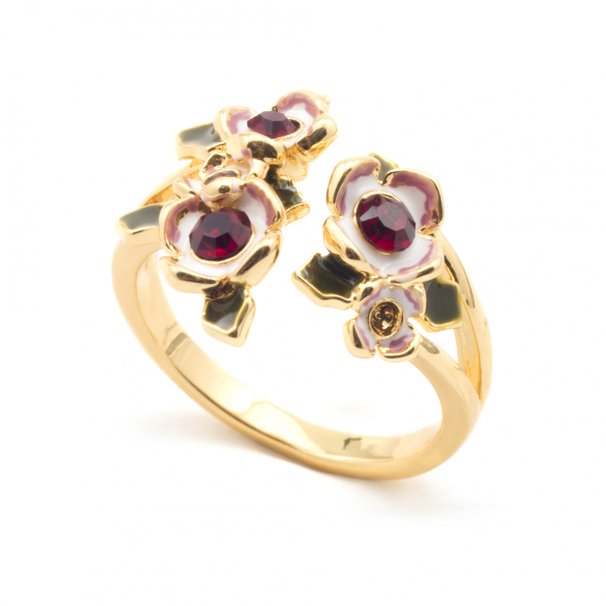 Floral Cluster Open Ring
