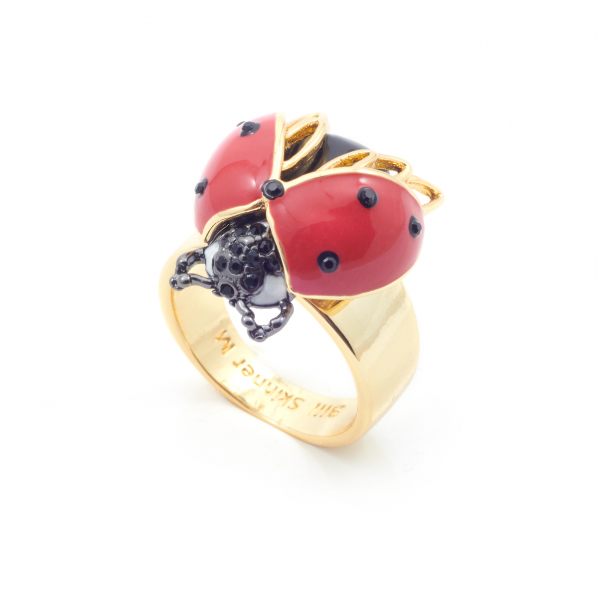 Bejewelled Ladybird Ring