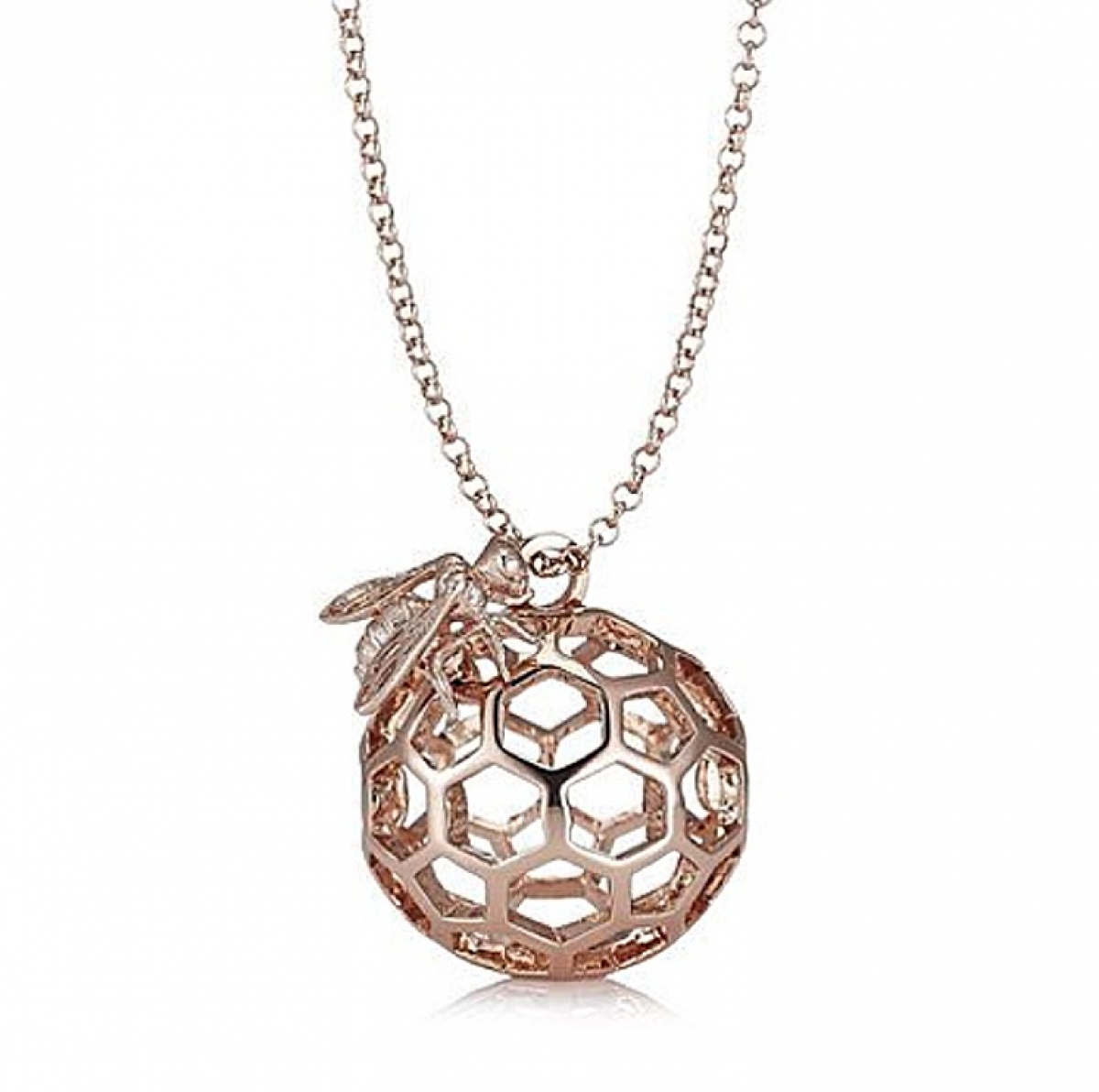 BEE & HONEYCOMB ORB ROSE GOLD