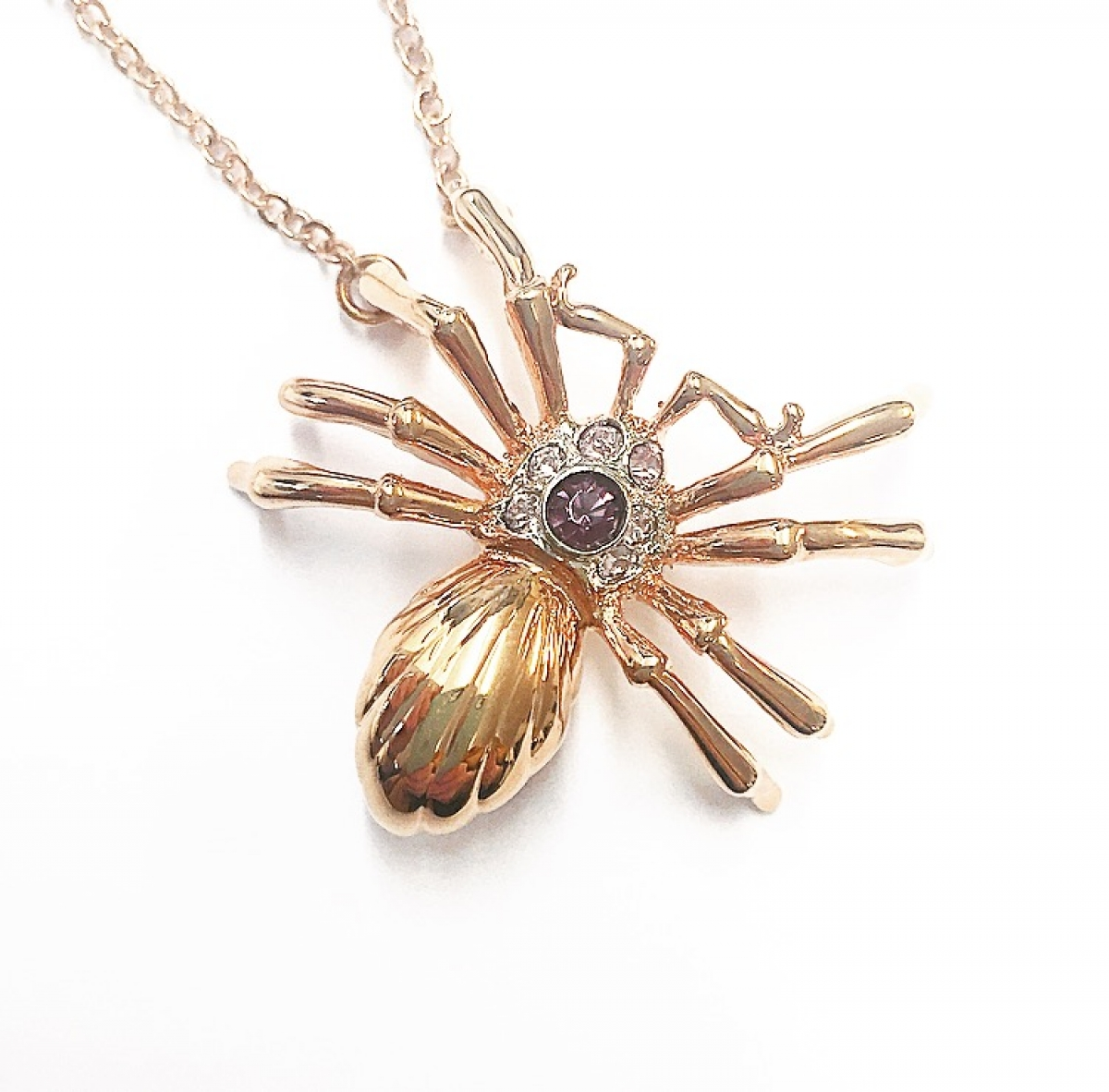 SPIDER SMALL PENDANT ROSE GOLD