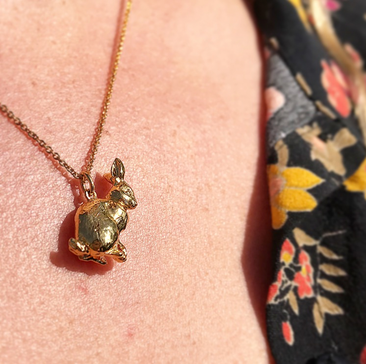 Archive Sitting Bunny Pendant