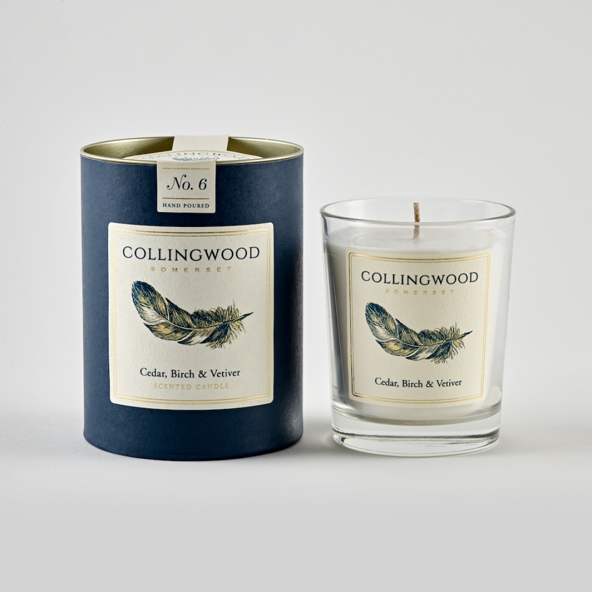 Feather Candle - Ceder, Birch & Vetiver