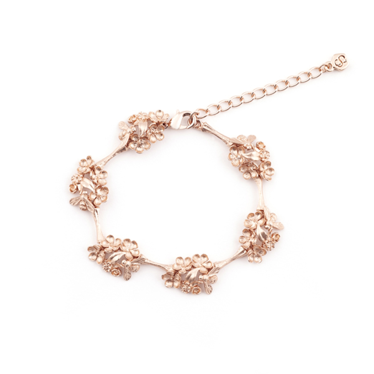 Bee & Floral Bracelet Rose Gold