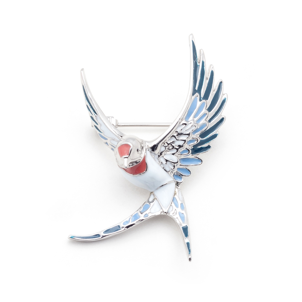 Swallow Brooch - Rhodium