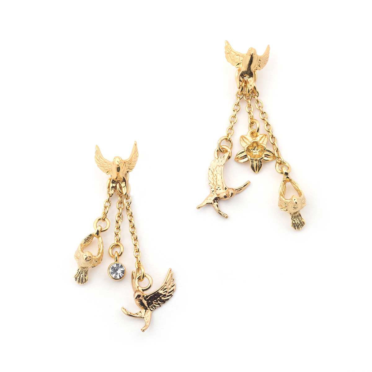 Swallow Drop Earring - Gold