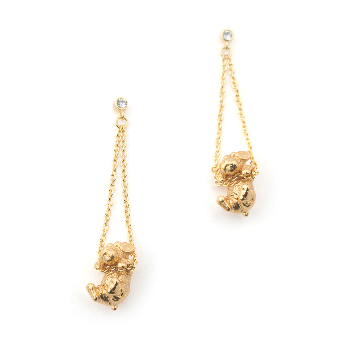 Puppy Wally Drop Earring - Gold