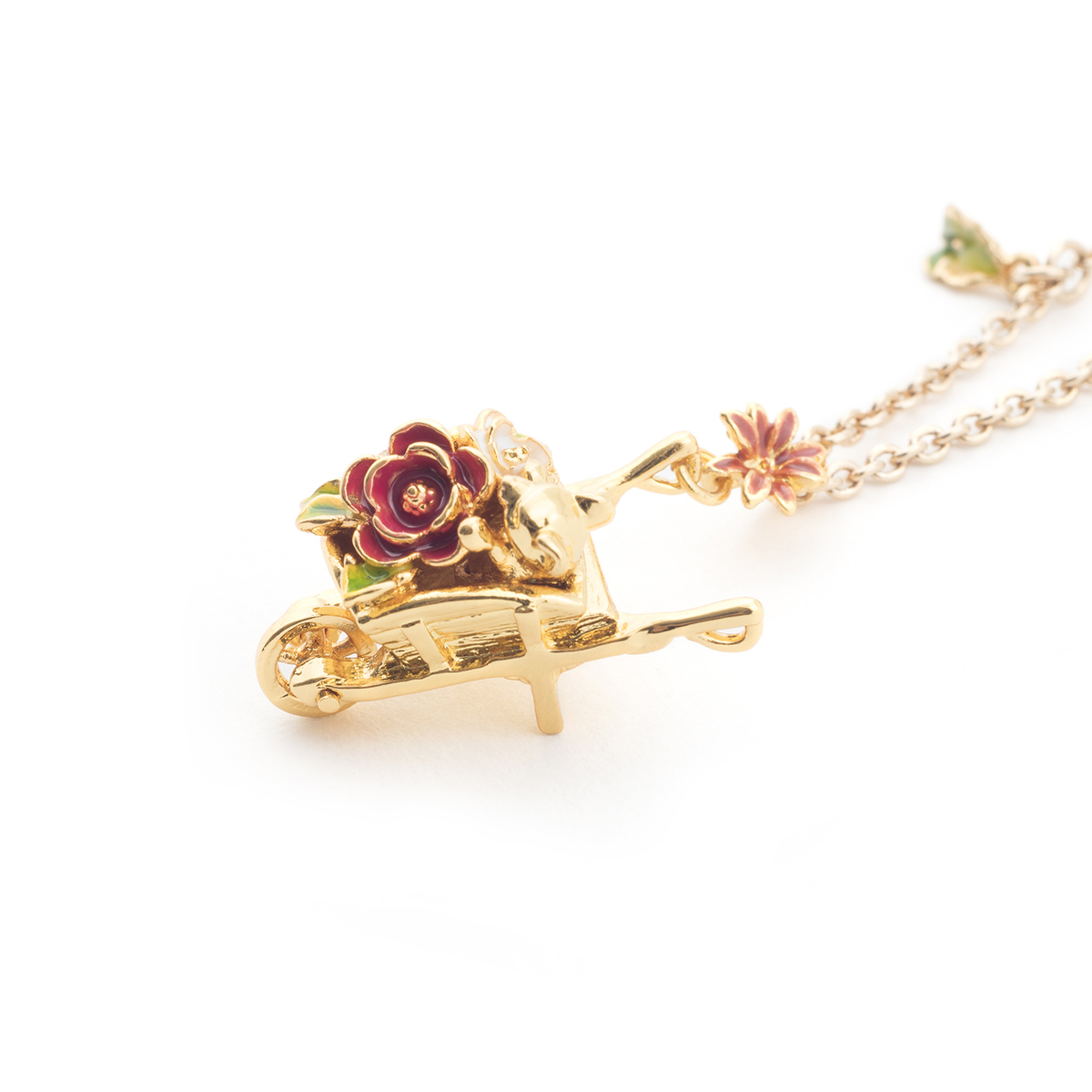 Potting Shed Wheelbarrow Pendant - Gold