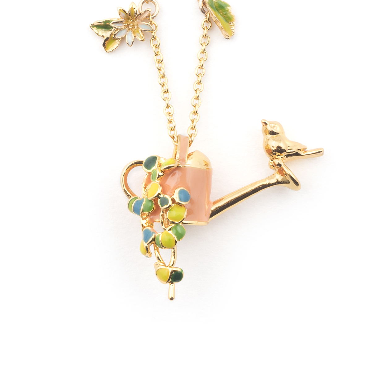 Potting Shed Watering Can Pendant - Gold