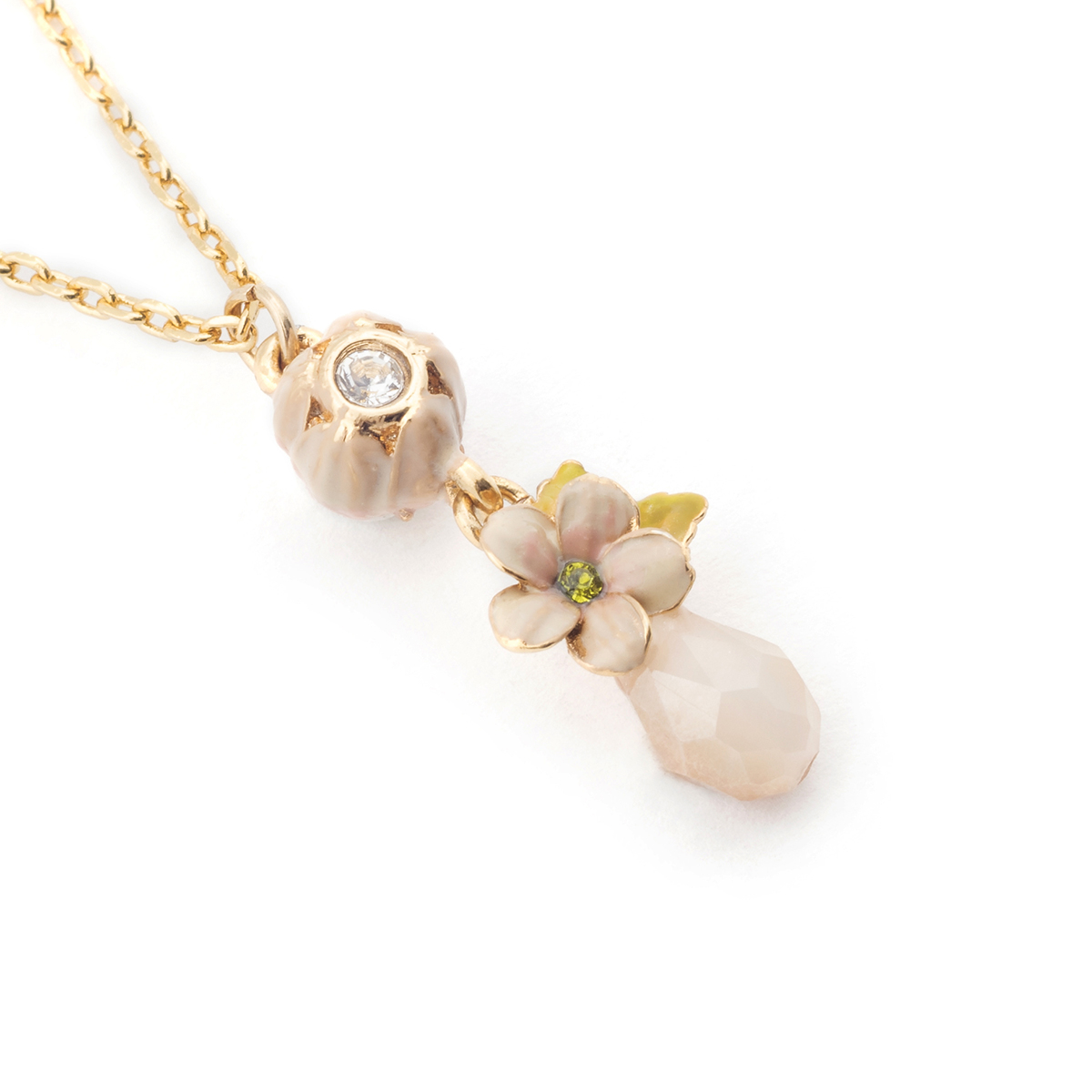 Cherry blossom stone pendant gold fashion jewellery cherry blossom stone pendant gold aloadofball Image collections